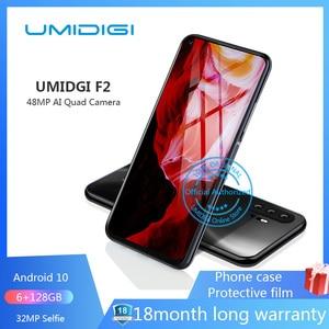 "UMIDIGI F2 6.53 ""FHD + 6GB 128GB Global version Android 10 32MP Selfie Helio P70 48MP AI Quad Camera mobile phone 5150mAh NFC(China)"