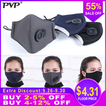 1Pcs PM2.5 Pollution Mask Anti Air Dust and Smoke with Earloop Valve, Washable Respirator Made
