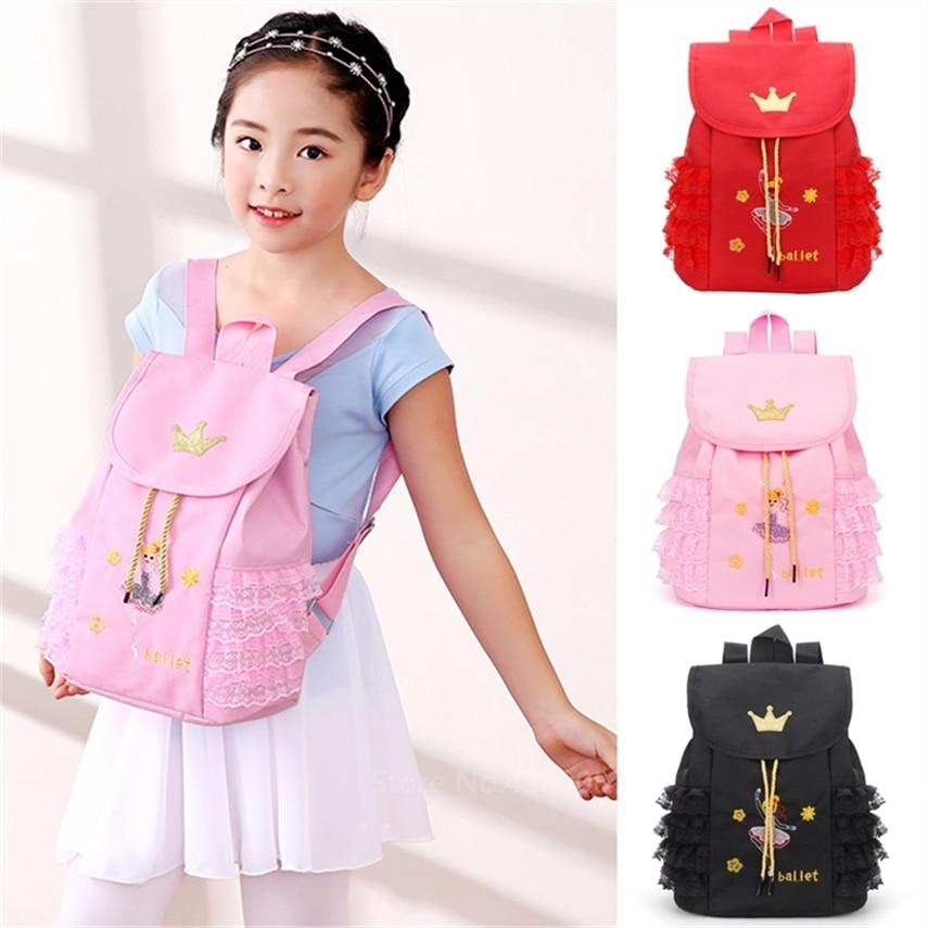 Children Soft Latin Backpack Ballet Dancing Bag Baby Girls Dancewear Waterproof