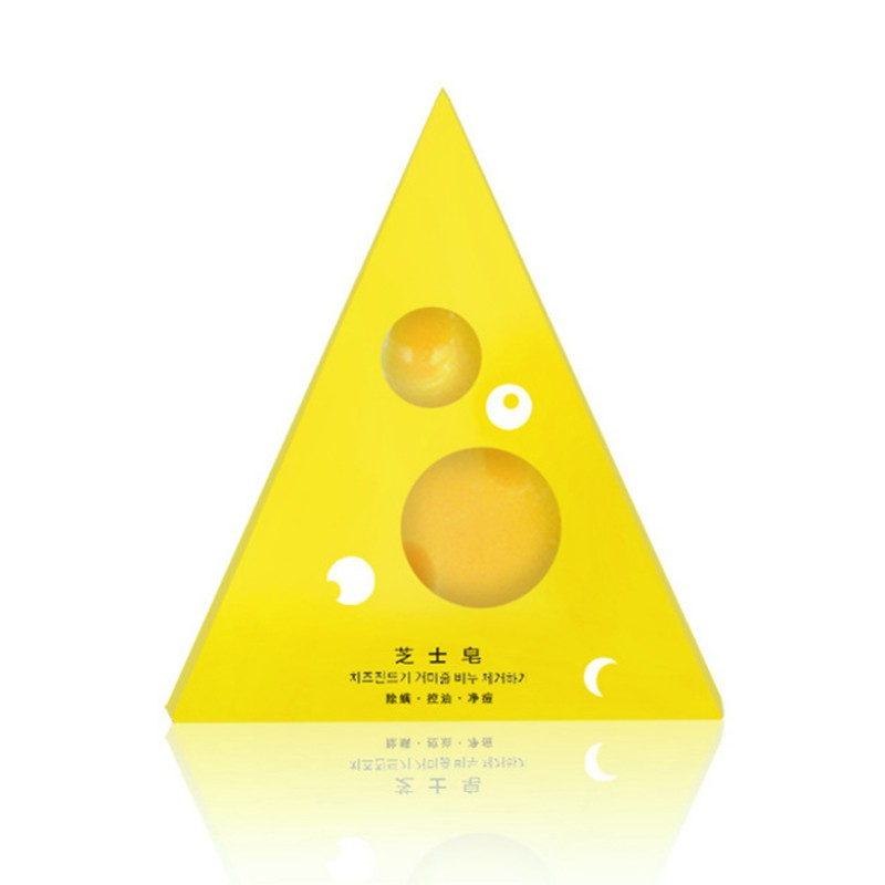 Yellow Cheese Soap Brushed Soap Moisturizing Oil-control Anti-mites Anti-acnes Facial Body Cleansing Soap