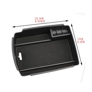 Image 5 - Caixa de armazenamento de braço central do carro recipiente titular bandeja para kia sportage kx5 ql em lhd 2016 2017 (para freio de mão eletrônico)