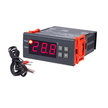 10 pces digital controlador de temperatura 1.7in display 50 a 110 graus celsius indústria interior casa fazenda pet agricultura thermomet