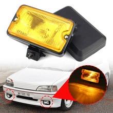 2 pçs 12v luz de nevoeiro da frente spotlamp luz condução drl conduziu a iluminação sim 3211 para peugeot 205 gti cti 106 306 mi16 h3