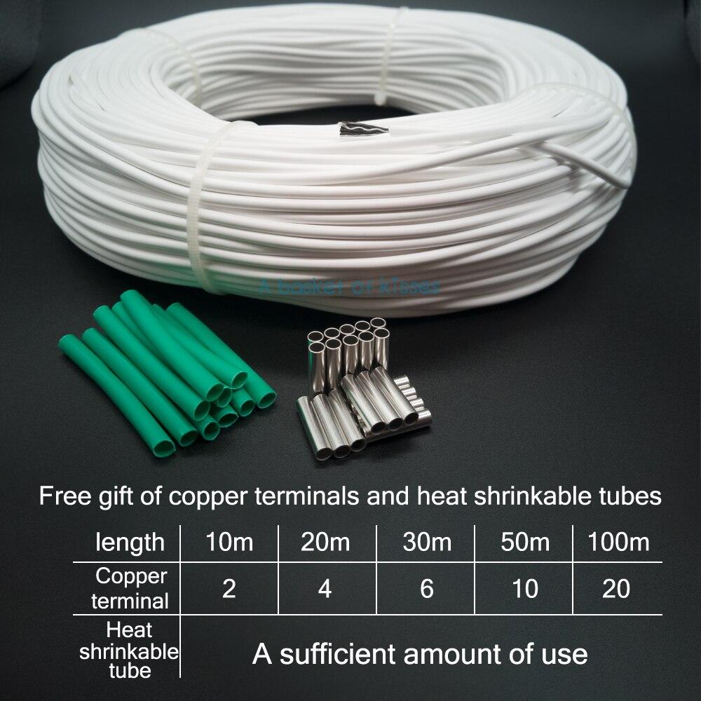 HRAG 12K 33ohm Высококачественный нагревательный кабель из углеродного волокна провод для обогрева пола электрическая Горячая линия нетоксичны...
