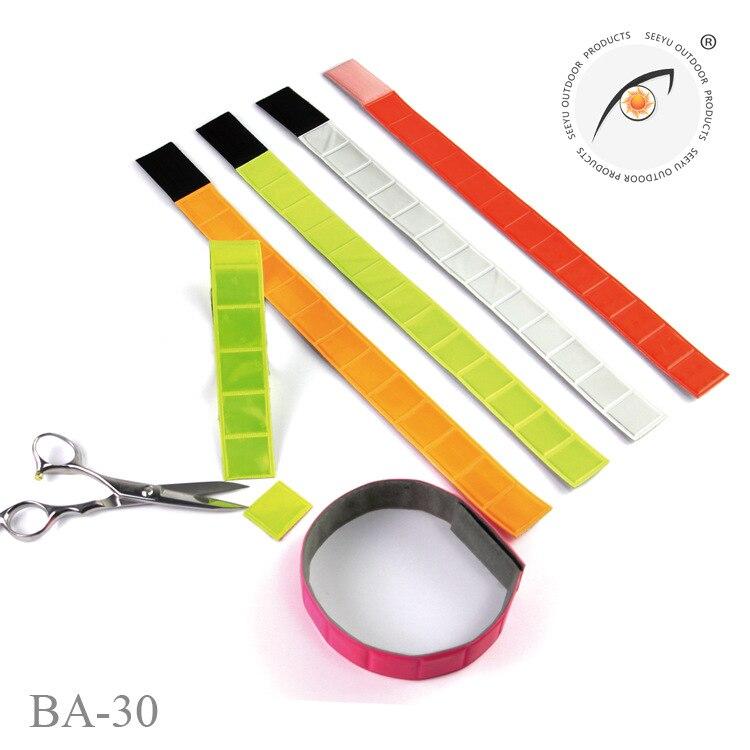 Non-Car Sewn Velcro Material-Shear Reflective Wrist Strap Reflective Band Soft Armband Reflective Trousers Belt