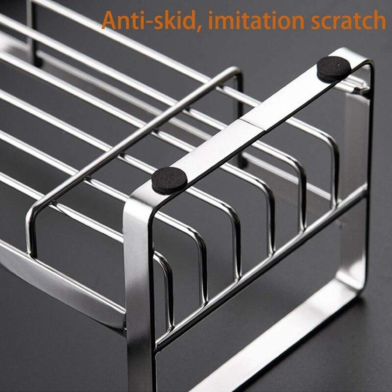 Держатель для губки, держатель для губки и мыла для кухонной раковины, 304 нержавеющая сталь, органайзер для кухонного мыла