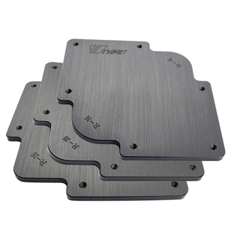 3Pcs R Round Corner Radius Jig Router Templates Bakelite Plate Engraving Machine