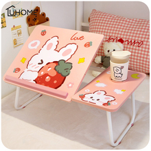 Table-Stand Computer-Tray Laptop-Table Lifting Pink Cute No for PC