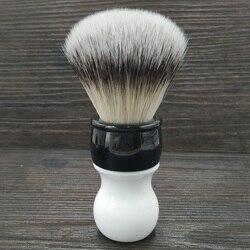 Dscosmetic 26MM pelo sintético suave nudos brocha de afeitar con mango de doble color