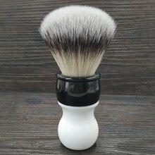 Dscosmetic 26MM yumuşak sentetik saç knot tıraş fırçası çift renk kolu ile