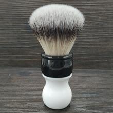 Dscosmetic 26MM zacht synthetisch haar knopen scheerkwast met dubbele kleur handvat