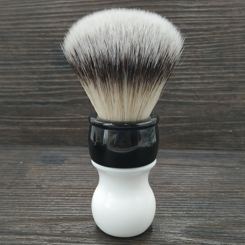 Dscosmetic 26MM Soft Synthetic Hair Knots Shaving Brush With Double Color Handle