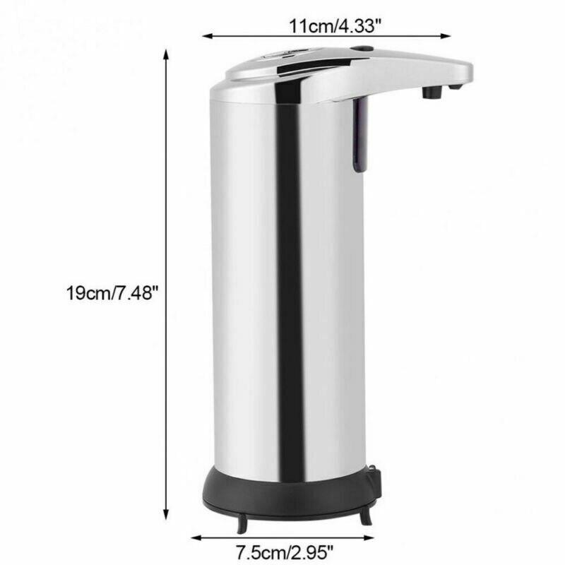 H0bc67a1b96214b73a089f09b13e1c1abY 250ml Stainless Steel Automatic Soap Dispenser Handsfree Automatic IR Smart Sensor Touchless Soap Liquid Dispenser