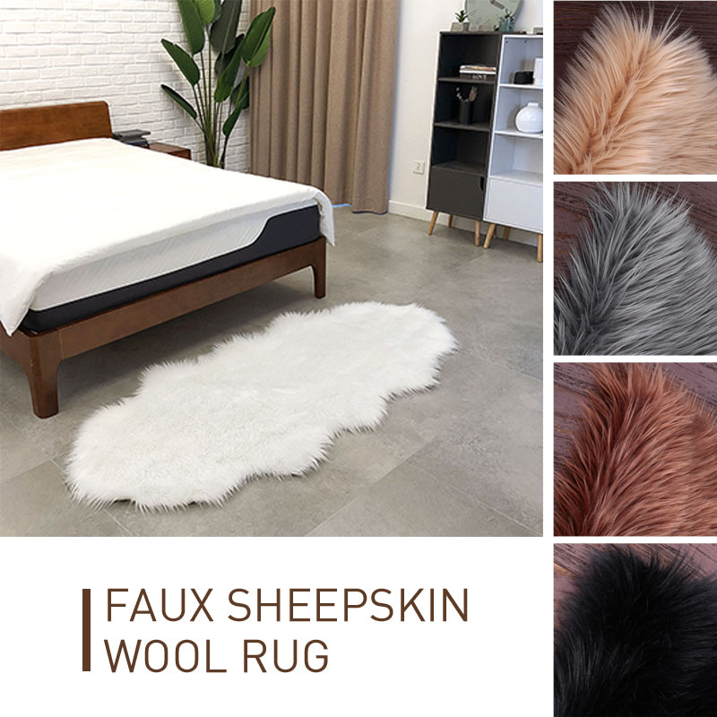 Tapis moelleux plancher 180X80cm laine tapis vague forme tapis chambre salle à manger luxueuse décoration de la maison canapé tapis plancher