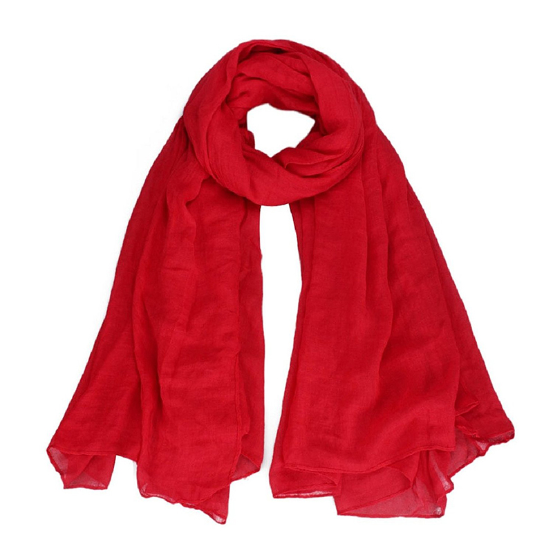 Women's Pure Cotton Oversize Envelope Scarf Shawl Comfortable Cover (Red)