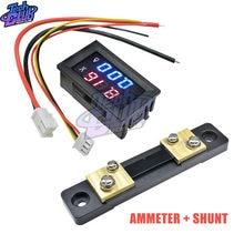 Voltímetro Digital, amperímetro de CC 100V, 10A, 50A, 100A, Panel de visualización LED, voltios, medidor de corriente de voltaje, Detector para coche