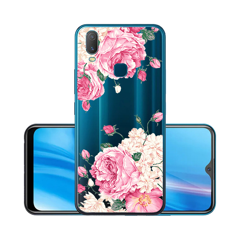 Clear Soft TPU Case For Vivo Y11 2019 Case Transparent Cute Cartoon Silicon Phone Cover For Vivo IQOO NEO V17 Pro V9 Covers
