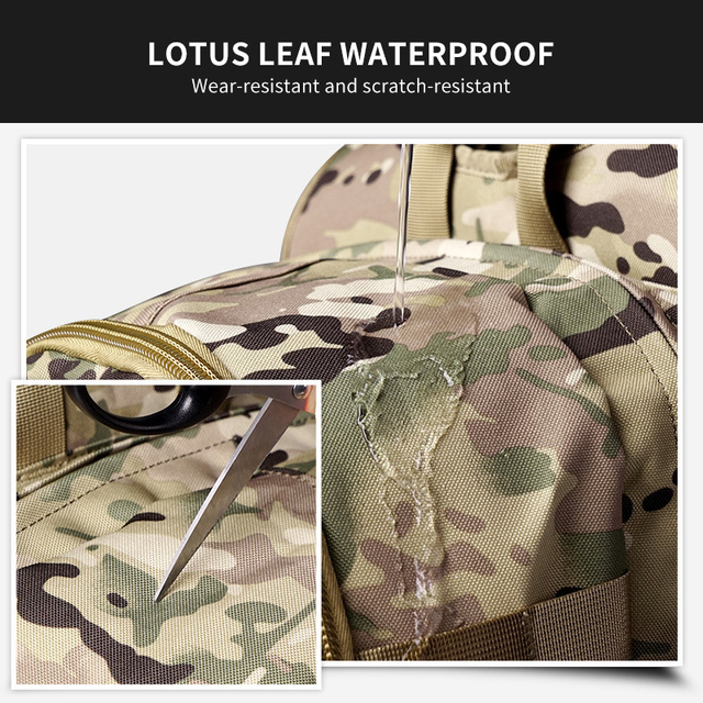 WAR GROUND Military Tactical 1000D Nylon 40L Backpack Mens Travel Bags Sports Camping Hiking Fishing Outdoor Camouflage Bags 4