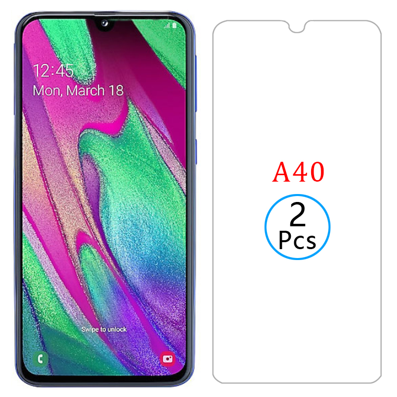 protective <font><b>glass</b></font> for <font><b>samsung</b></font> a40 screen protector tempered glas on galaxy <font><b>a</b></font> <font><b>40</b></font> 40a 5.9 safety film samsun samsumg sansung galaxi image
