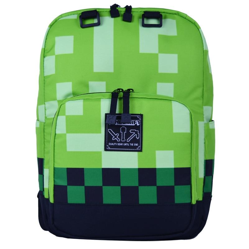 Minecrafting Backpack School Bags Coolie Fear JJ Blame Kid's School Bag Top Games Boys Girls High Capacity Canvas Travel Bags