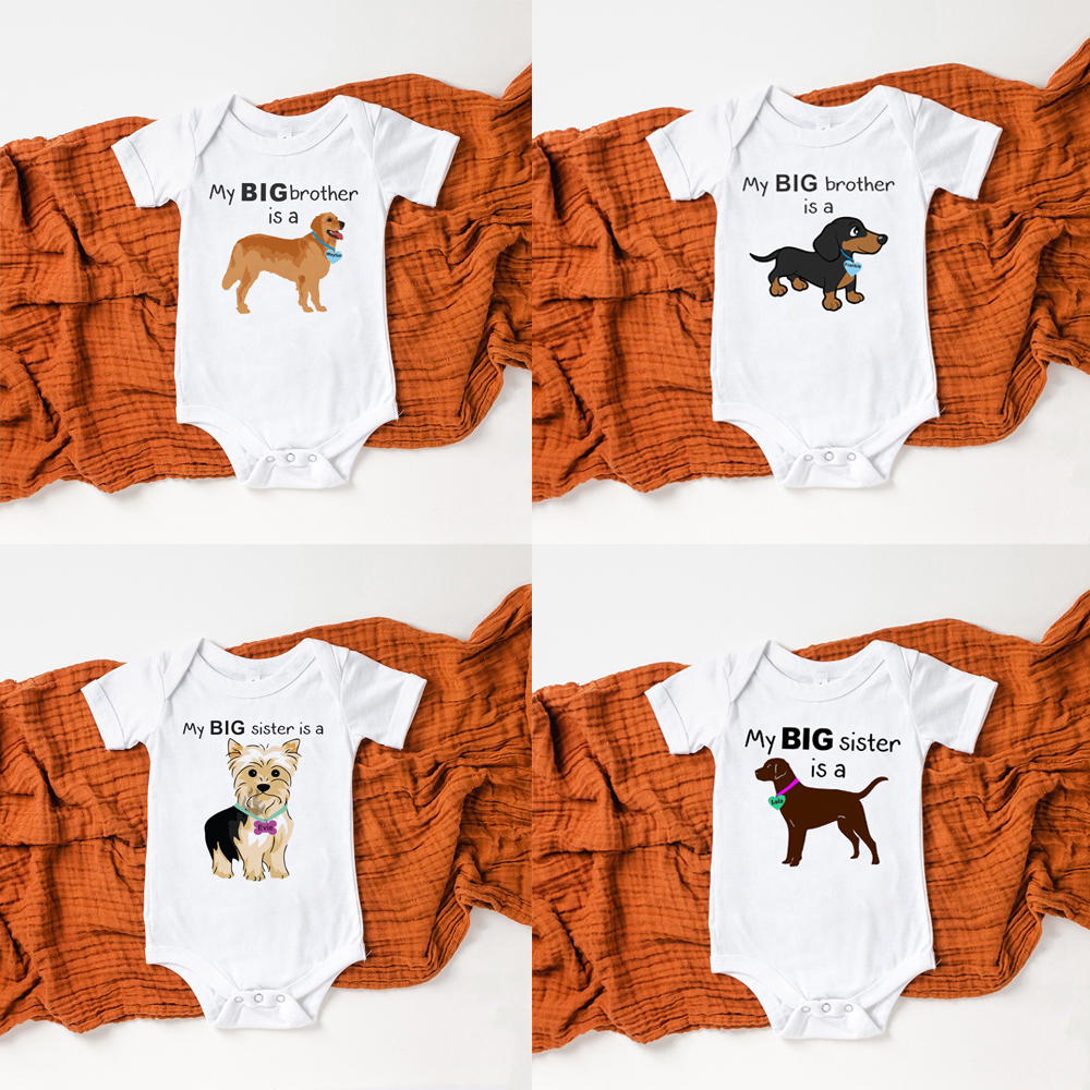 Is A Rhodesian Ridgeback Baby Soft Cotton Bodysuit Sleepsuit Vest Boy Girl Dog Pink Blue Shower New Daughter Son Or Sister My Big Brother