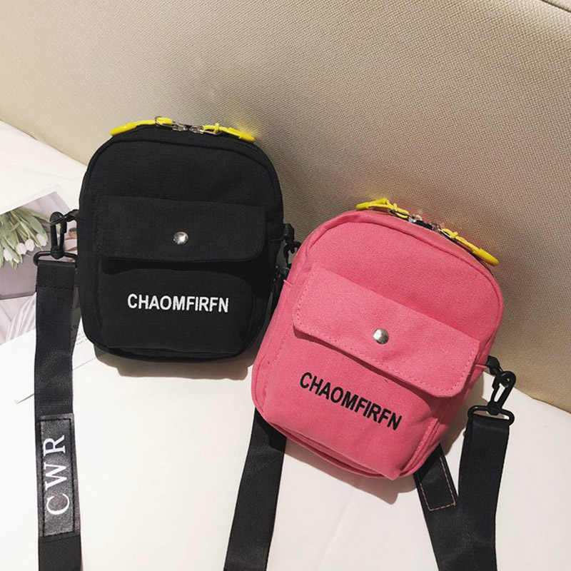Girls School Bag Fashion Letter Printed Canvas Messenger Bags Cartable Fille Eco Bags
