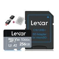 Lexar profesional 1066X 667X micro SDXC UHS-I tarjetas tarjeta de memoria SD de 64GB y 128GB 256GB U3 V30 A2 100 MB/s leer 90 MB/s escribir