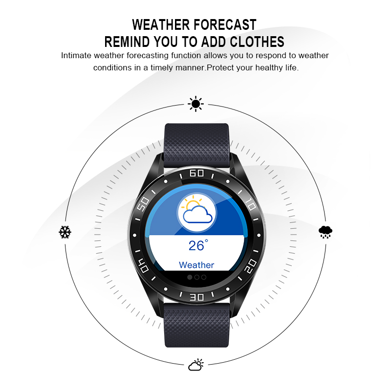 Longet Smart Watch GT105 Waterproof IP68 Heart Rate Monitor Fitness Water Sleep Monitor Color Screen Sport Smartwatch Men Women