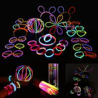 1 set Multi Color Fluorescent Light Sticks Glasses Headbands Glow Sticks Fluorescent Bracelets Necklaces Set For Parties