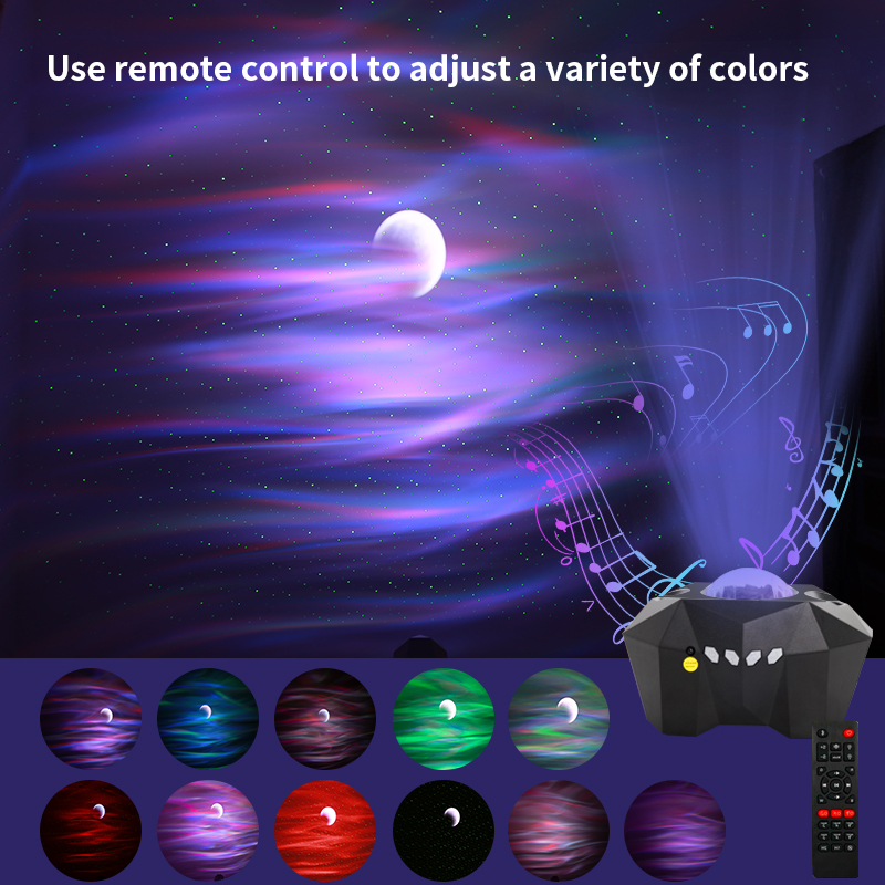 Bluetooth Laser Star Night Lights LED Starry Sky Projector Music Lamp Colorful Music Moon Nebula Projection Atmosphere Lighting