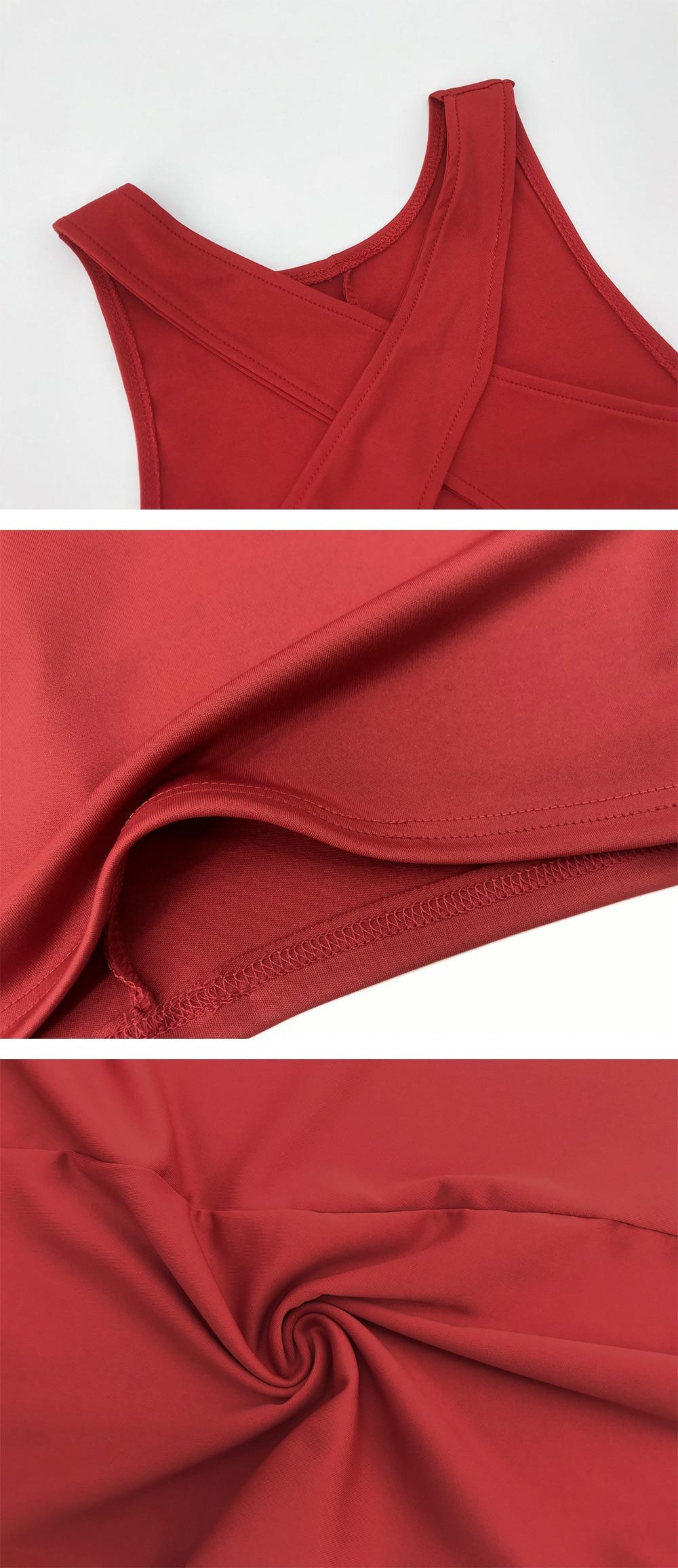 Robe courte croisée sans manches pour femmes