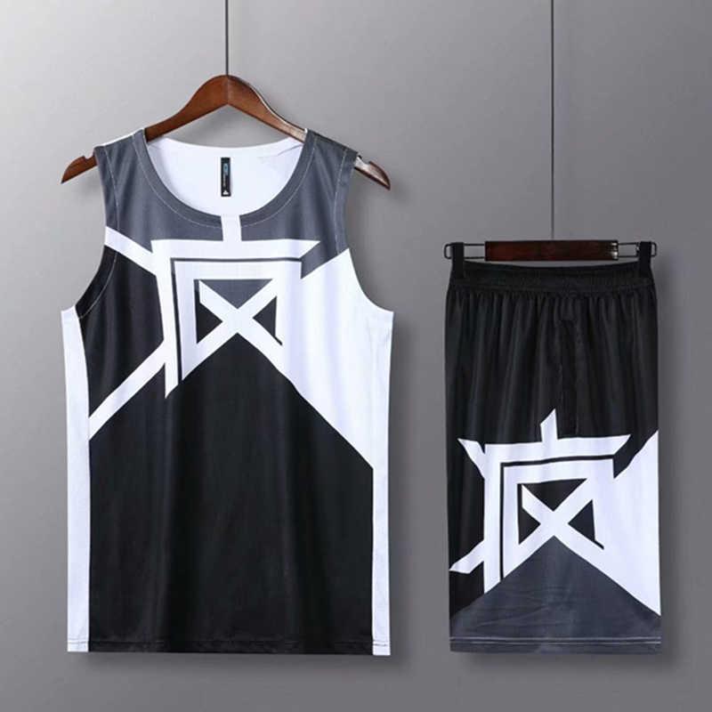 Dla dzieci dorosłych koszulki do koszykówki garnitur dziecko mężczyźni koszykówka jednolite Sport zestaw koszule zestaw szortów chiński drukowane strój treningowy niestandardowe