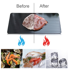 Fast Defrosting Tray Thaw Frozen Food Meat Fruit Quick Defrosting Plate Board Home Kitchen Defrost Supplies 23x16.5x0.2CM