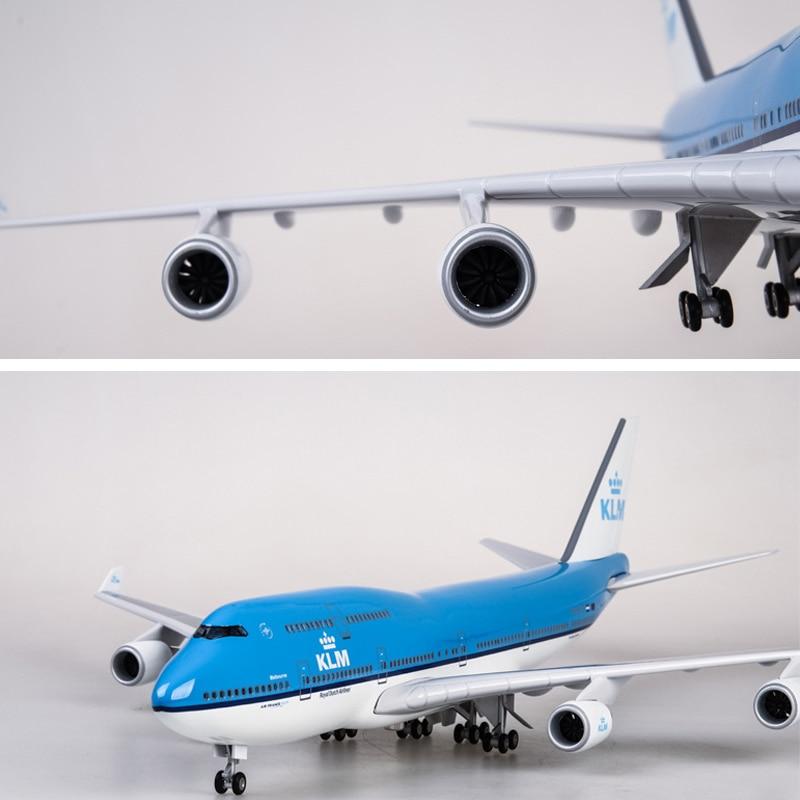 Qantas Boeing 747-400 Aeronaves Modelo de avião Luz Led Controle De Som 45cm