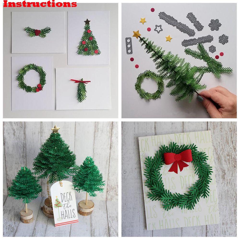 Christmas Metal DIY Cutting Dies Stencil Scrapbook Embossing Card Folder Photo