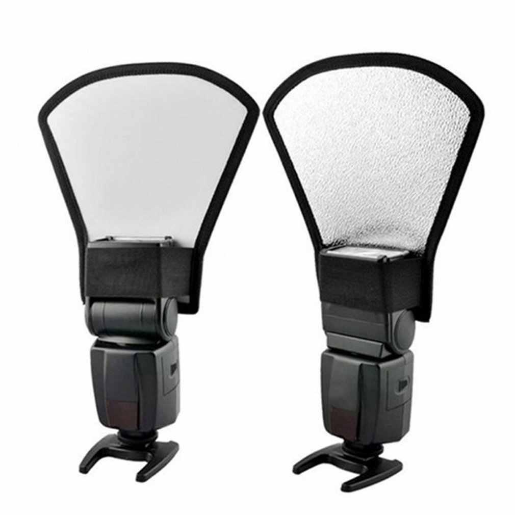 العالمي DSLR فلاش كاميرا Speedlite الناشر الفضة/الأبيض العاكس مجلس الفوتوغرافي Softbox لينة ضوء لأخذ الصور