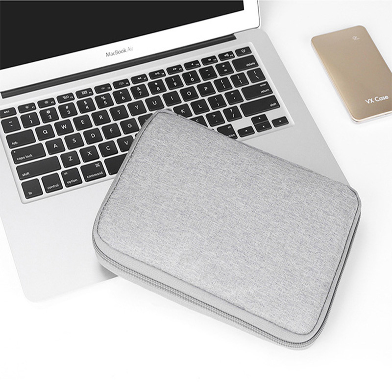 Gray Digital Storage Bag USB Data Cable Organizer Earphone Wire Bag Pen Power Bank Travel Kit Case Pouch Electronics Accessories in Storage Bags from Home Garden