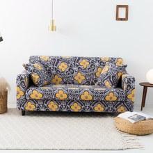 Funda de sofá con flores, cubierta de sofá de un solo/doble/tres/cuatro asientos, cubierta de sofá de elasticidad, 1 ud.