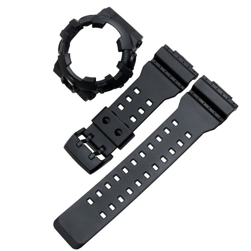1set Soft Silicone Watchband Metal