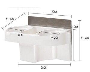 Image 5 - 多機能バスルーム収納ヘアドライヤーホルダー主催自己粘着搭載棚シャンプーストレート