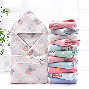90*90cm Newborn Baby Wrapped Blanket Hug Quilt Baby Quilt Gauze Towel Baby Quilt Baby Cotton Thin Quilt