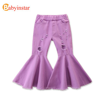 Babyinstar 2020 New Girls Jeans Pants Spring Denim Jeans Kids Clothing Children Pants Casual Trousers Jeans For Girls Clothes girls denim pants high quality spring kid clothing autumn girl trousers fall children jeans pants leggings heart pattern jeans