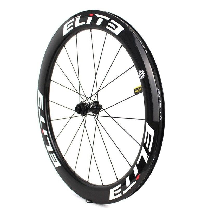 Elite SLR frein à disque carbone route vélo roue système de faible résistance tubulaire pneu Tubeless 700c gravier Cyclocross roues - 3