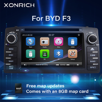 Xonrich 2 Din Car Radio DVD Player For Toyota Corolla E120 BYD F3 2000 2005 2006 Multimedia GPS Head Unit Stereo NavigationAudio