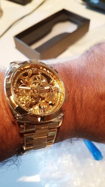 H0bc85f219d89488981325732cfc62d53a Forsining 2018 Fashion Retro Men's Automatic Mechanical Watch Top Brand Luxury Full Golden Design Luminous Hands Skeleton Clock