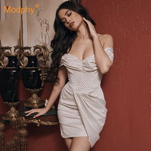 Fashion Dot Print Women's Dress Sexy Sleeveless Strapless High Waist Mini Club E