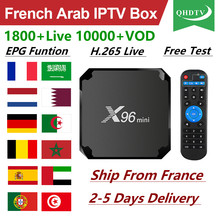 цена на QHDTV IPTV France X96 Mini Android 7.1 1 Year IPTV France Arabic X96mini Box IPTV Netherlands Germany Belgium IP TV Subscription