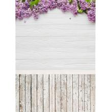 Flores púrpuras tablero de madera blanca fotografía telones de fondo foto de estudio para niños retrato de bebé día de San Valentín