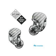 Audiosense dt200 knowles 2ba fone de ouvido estéreo alta fidelidade iems com destacável mmcx cabo 3d impressão resina escudo