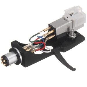 Image 1 - 1 pz stilo a cartuccia magnetica con giradischi Headshell contatti a 4 Pin per giradischi fonografo grammofono LP ago in vinile